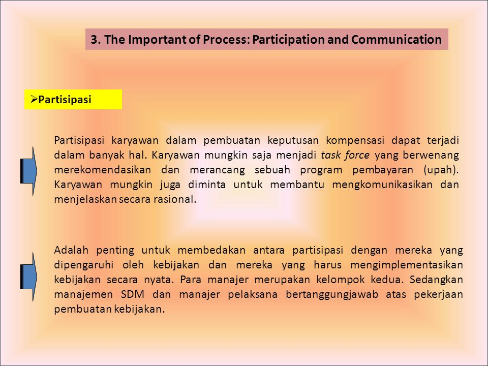 3. The Important of Process: Participation and Communication