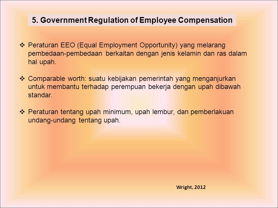 5. Government Regulation of Employee Compensation
