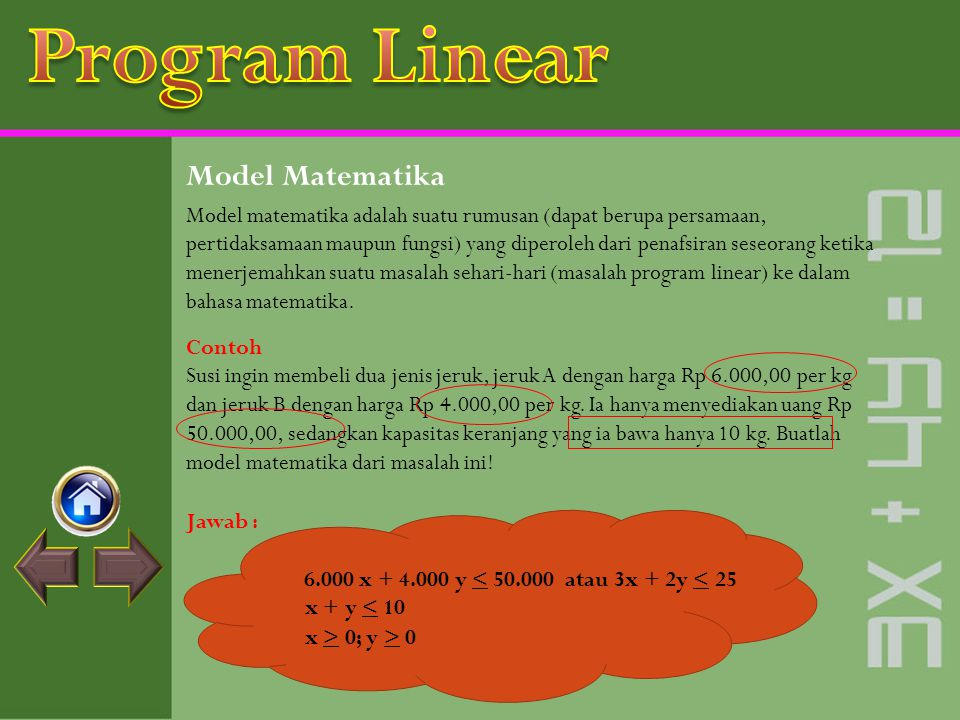 Program Linear Model Matematika