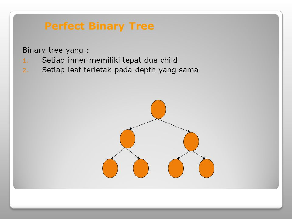 Perfect Binary Tree Binary tree yang :