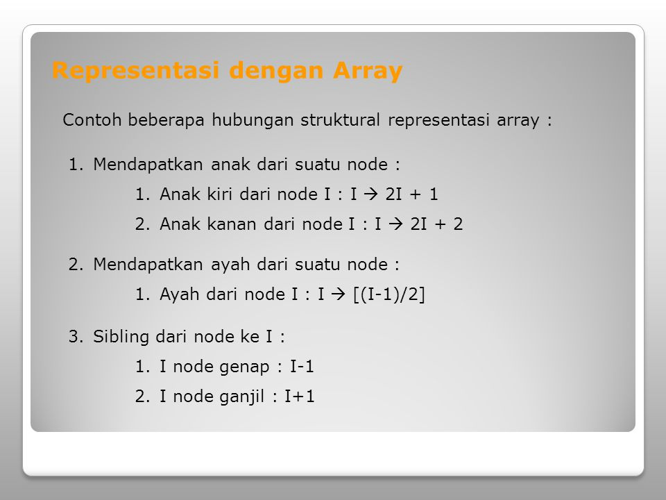 Representasi dengan Array