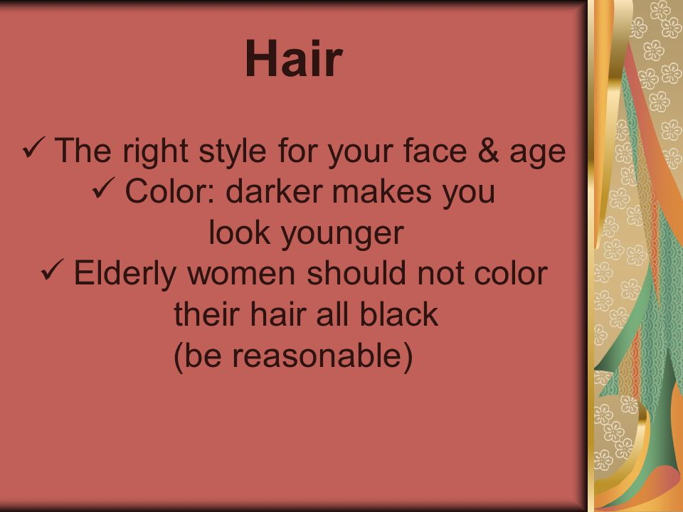 Hair The right style for your face & age