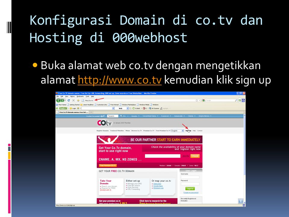 Konfigurasi Domain di co.tv dan Hosting di 000webhost