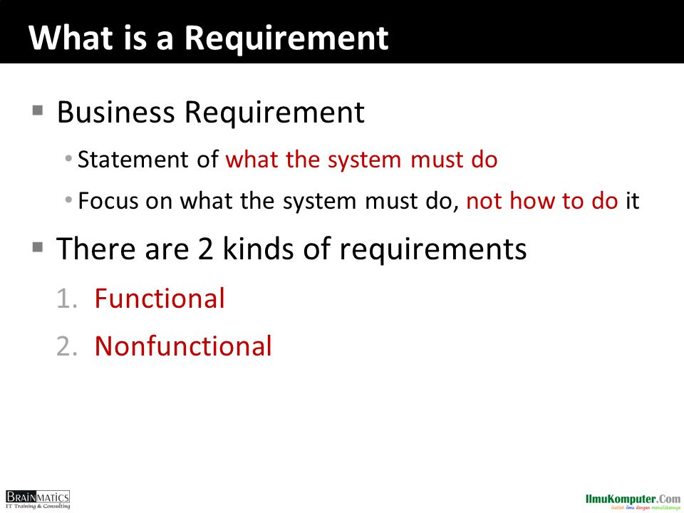 What is a Requirement Business Requirement