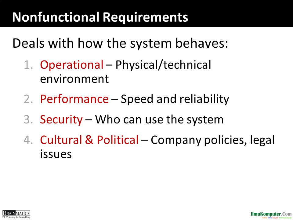 Nonfunctional Requirements