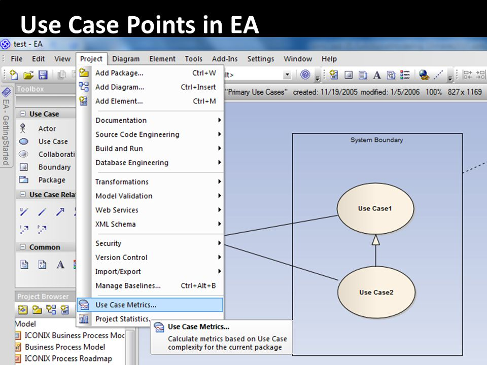 Use Case Points in EA