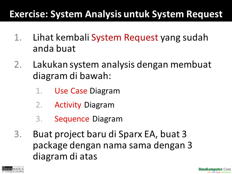 Exercise: System Analysis untuk System Request