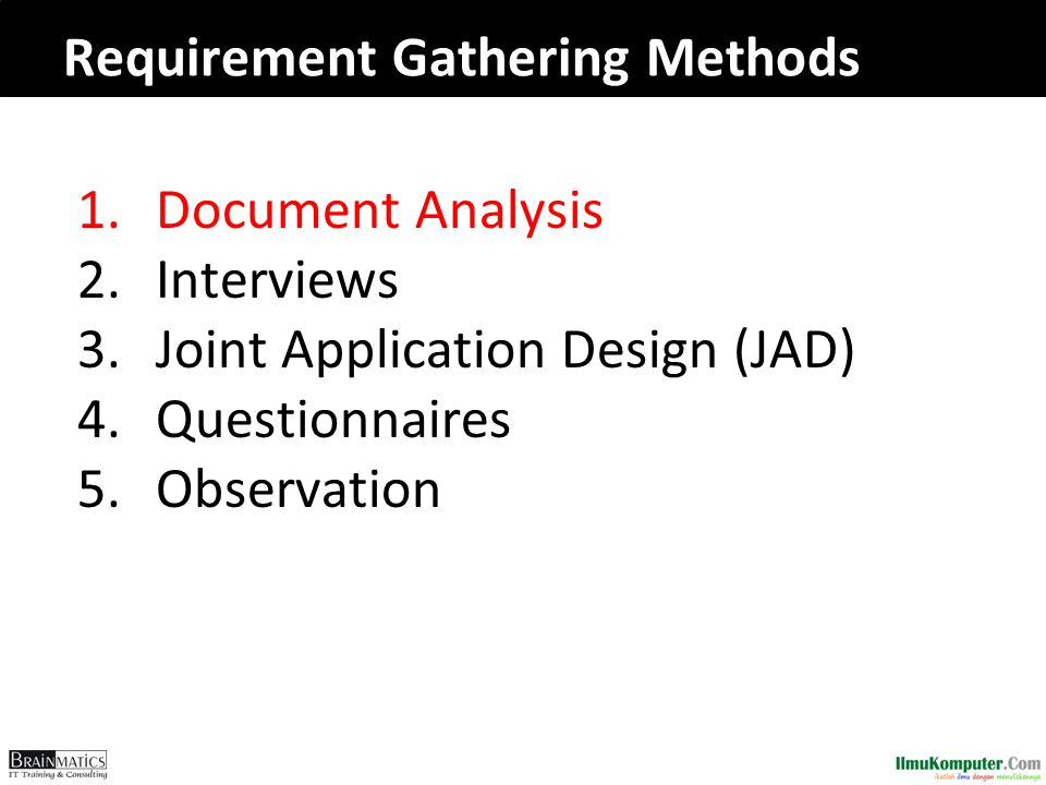 Requirement Gathering Methods