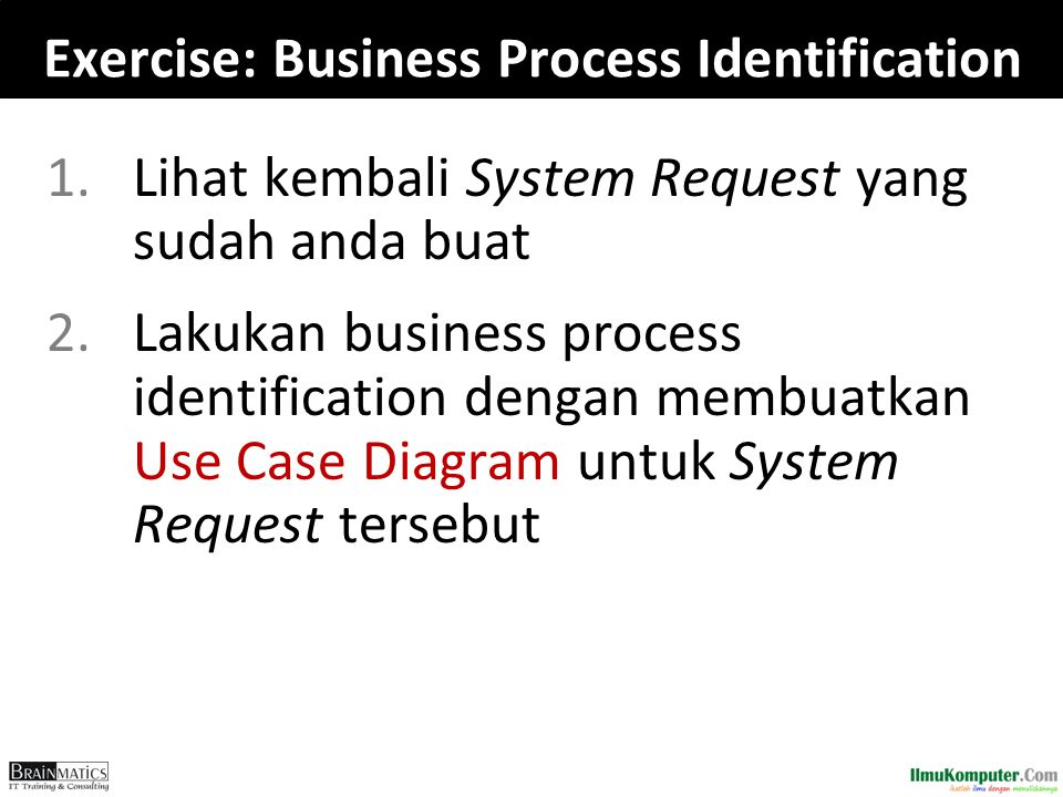 Exercise: Business Process Identification