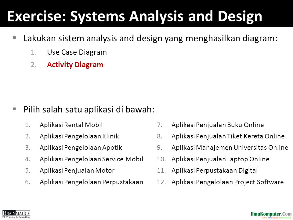 Exercise: Systems Analysis and Design