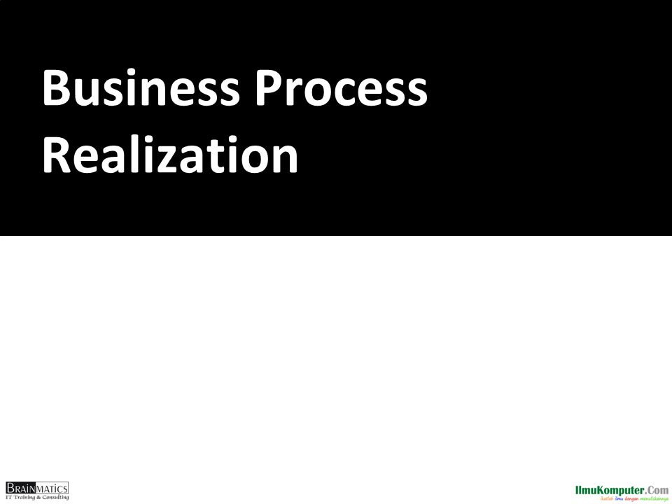 Business Process Realization