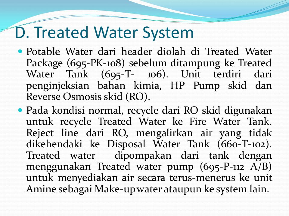 D. Treated Water System