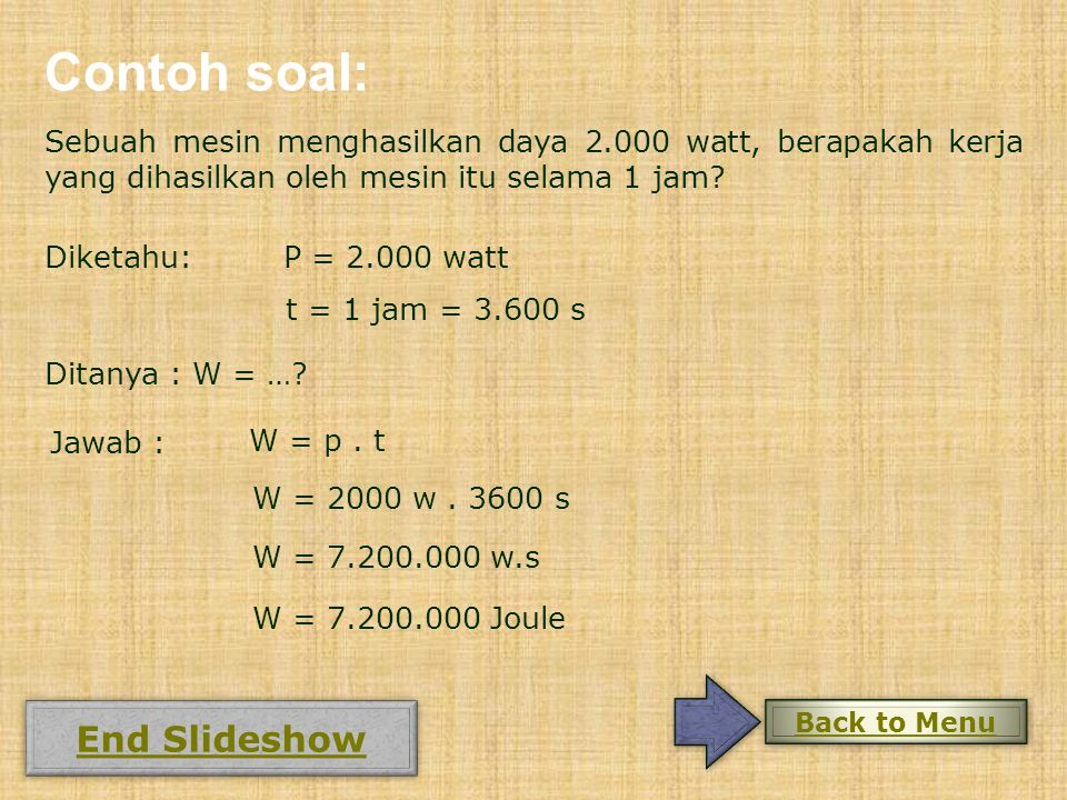 Contoh soal: End Slideshow