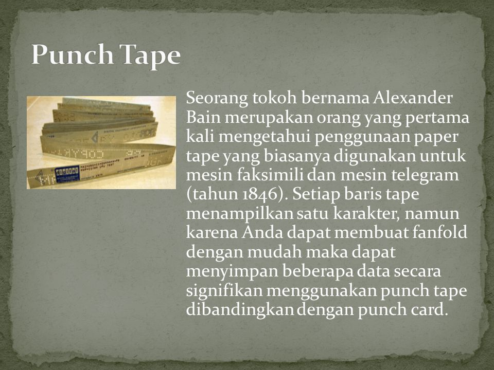 Punch Tape