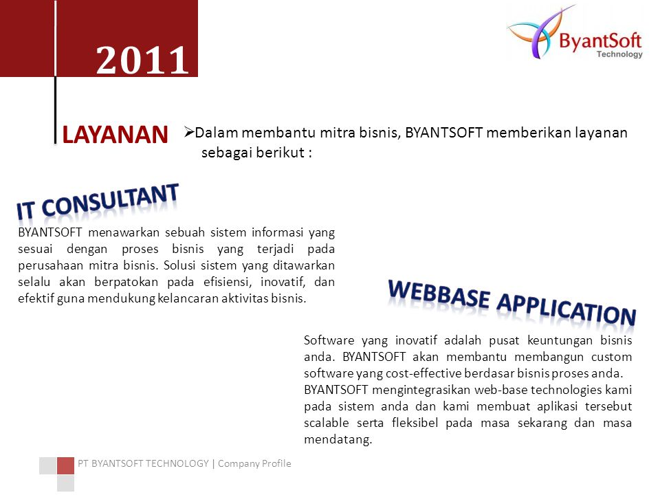 LAYANAN IT CONSULTANT WEBBASE APPLICATION
