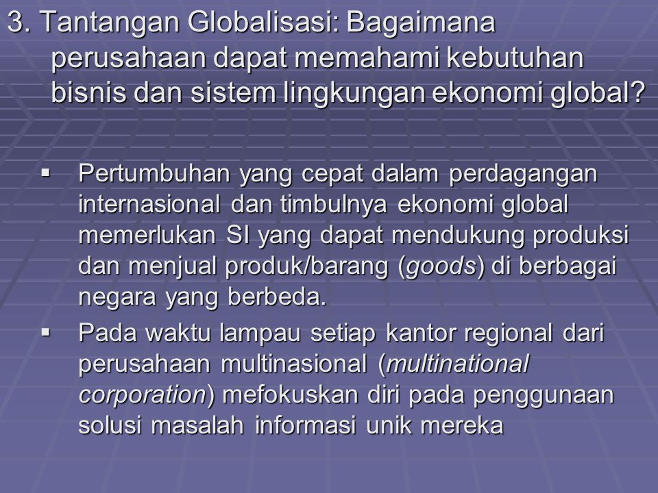 apa saja beberapa tantangan utama yang dihadapi sistem perdagangan internasional