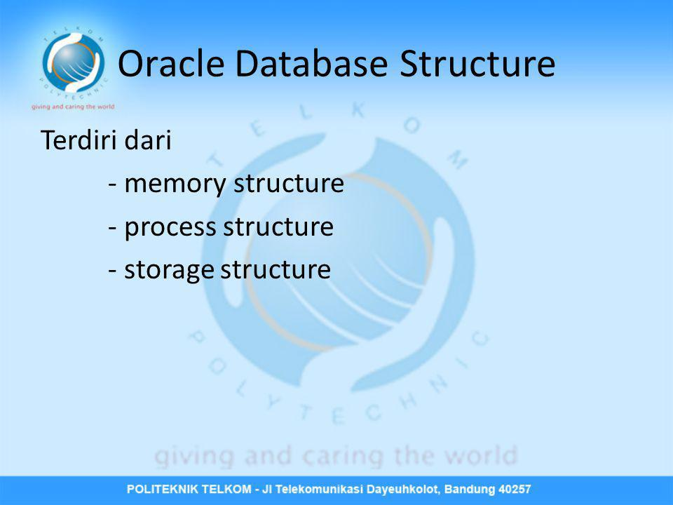 Oracle Database Structure