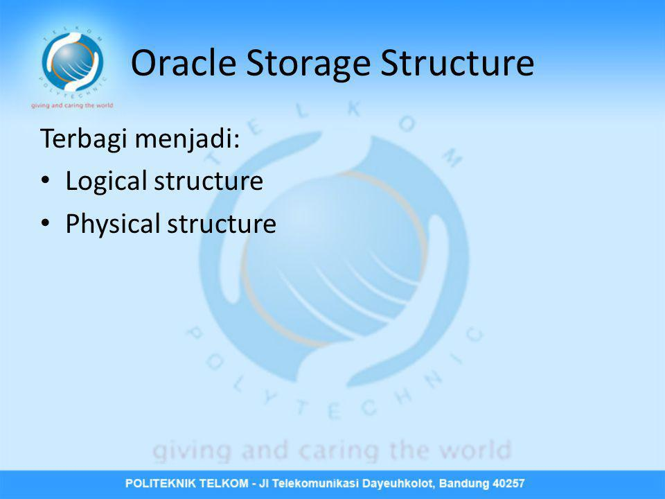 Oracle Storage Structure