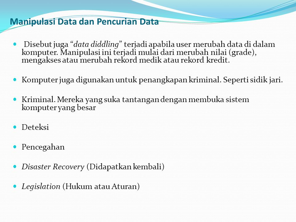 Manipulasi Data dan Pencurian Data