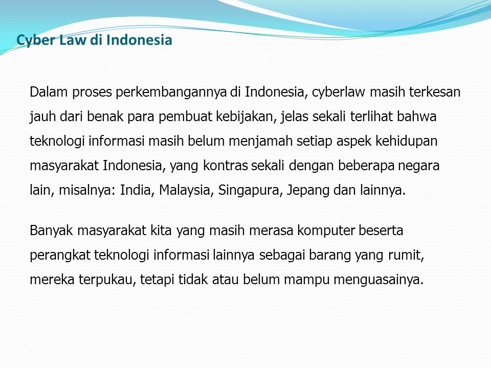 Cyber Law di Indonesia