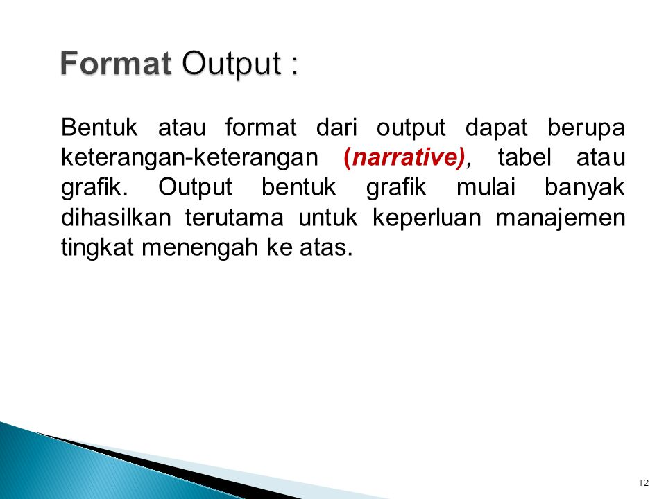 Format Output :