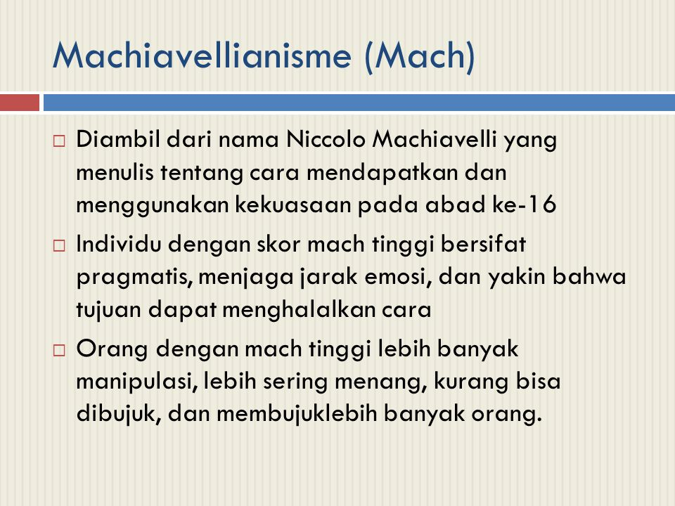 Machiavellianisme (Mach)