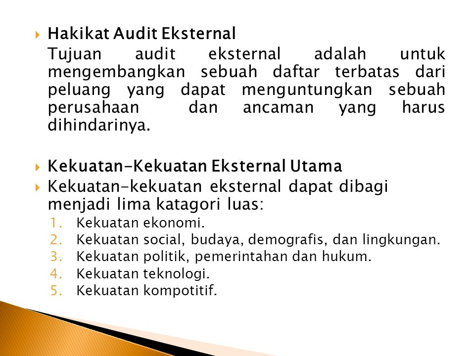 Hakikat Audit Eksternal