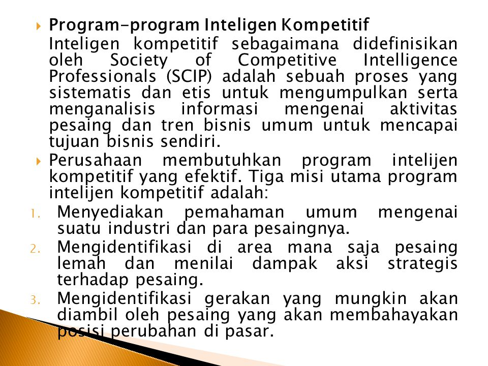 Program-program Inteligen Kompetitif