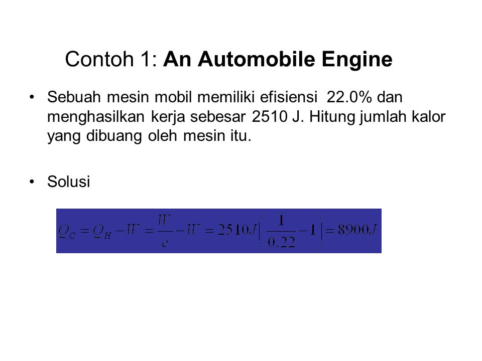 Contoh 1: An Automobile Engine