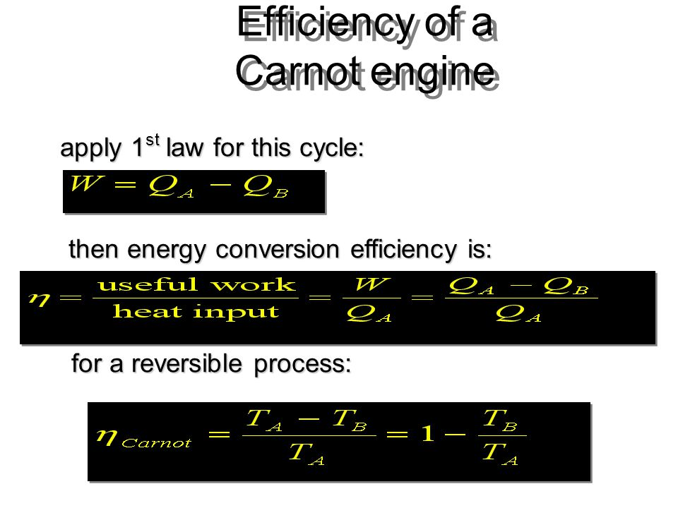 Efficiency of a Carnot engine