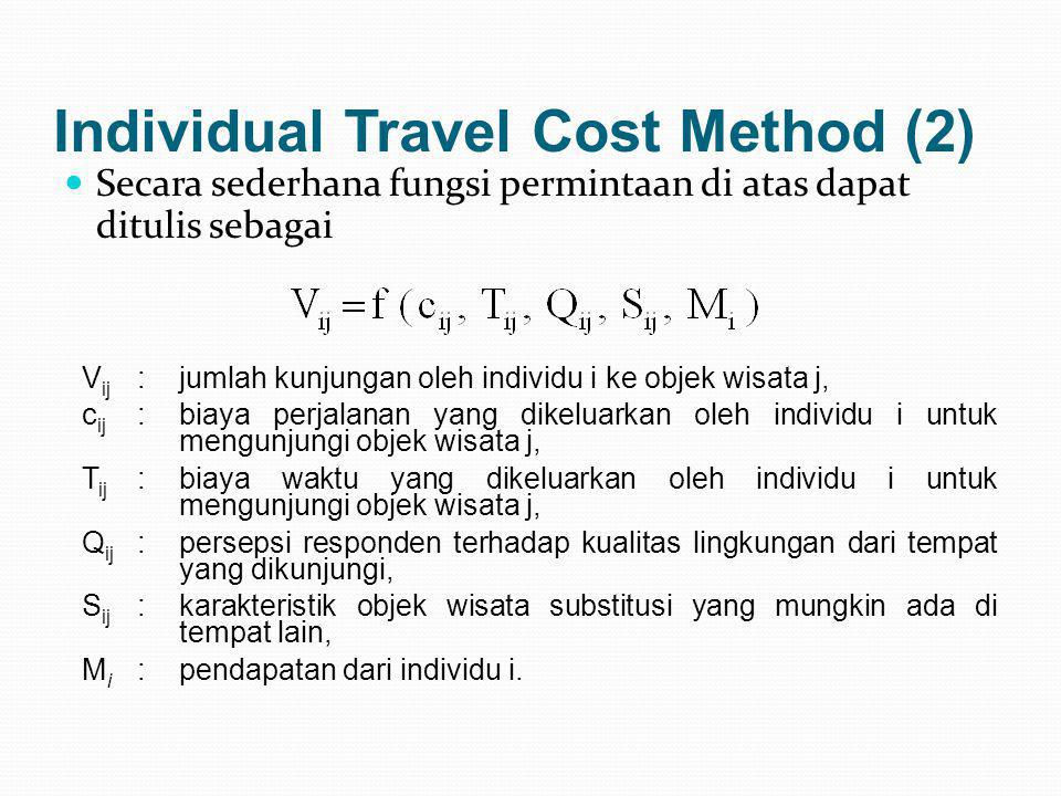 Individual Travel Cost Method (2)