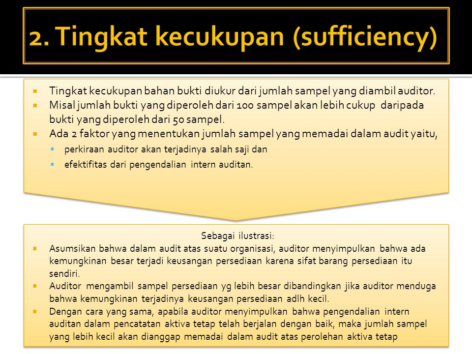 2. Tingkat kecukupan (sufficiency)