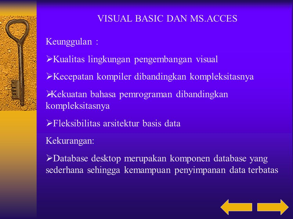 VISUAL BASIC DAN MS.ACCES