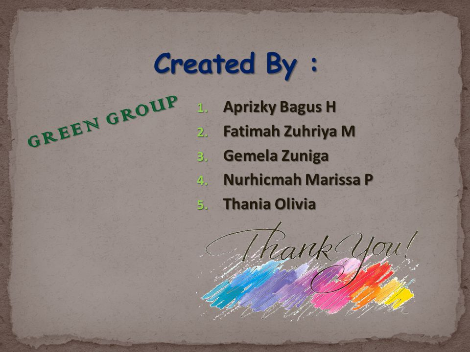 Created By : GREEN GROUP Aprizky Bagus H Fatimah Zuhriya M