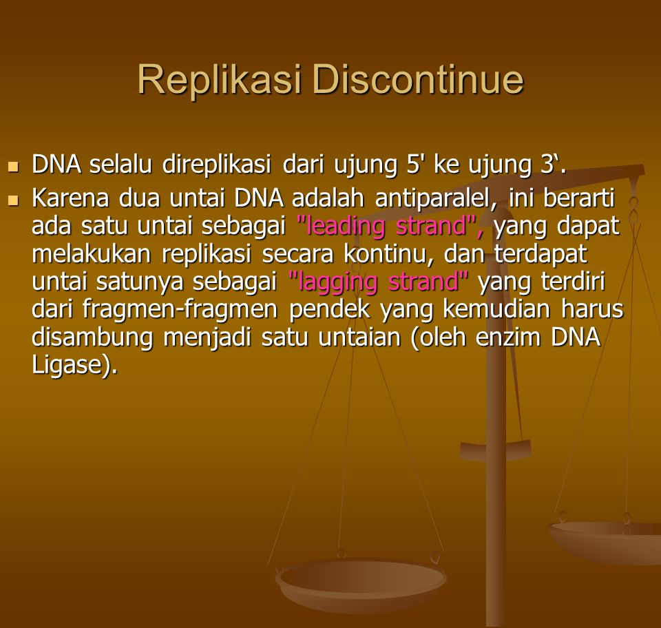 Replikasi Discontinue