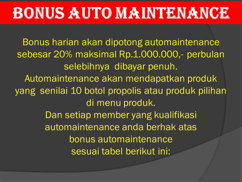 BONUS AUTO MAINTENANCE