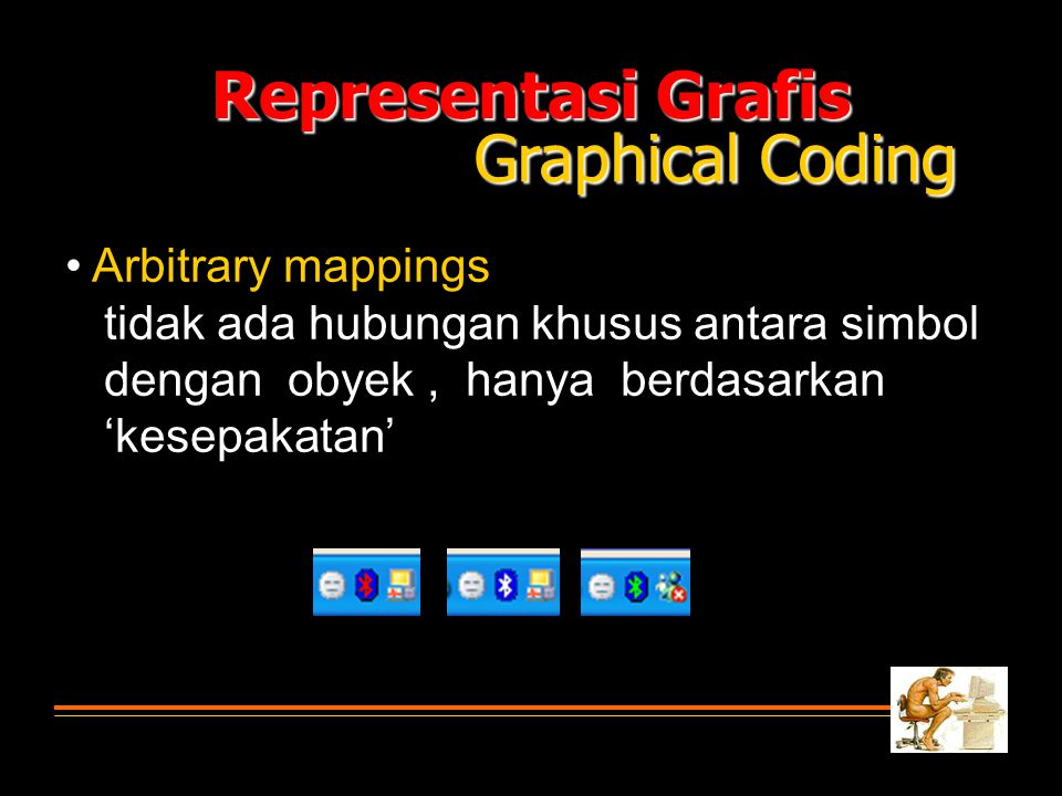 Representasi Grafis Graphical Coding • Arbitrary mappings
