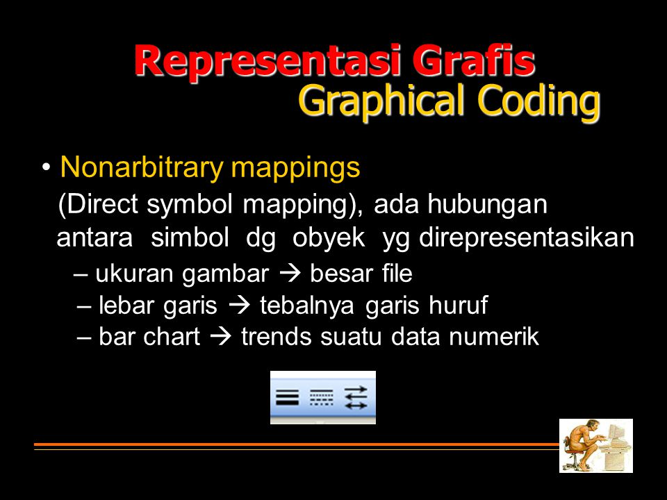 Representasi Grafis Graphical Coding • Nonarbitrary mappings