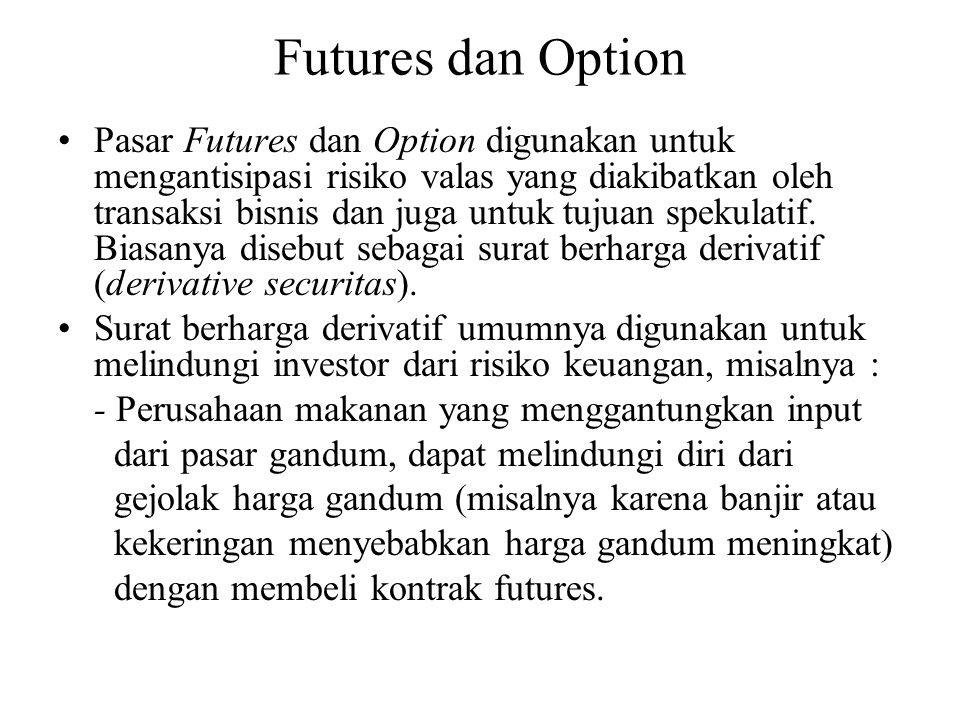 Futures dan Option