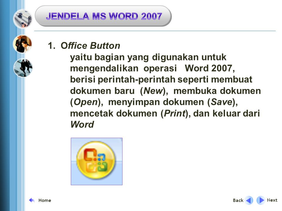 JENDELA MS WORD Office Button