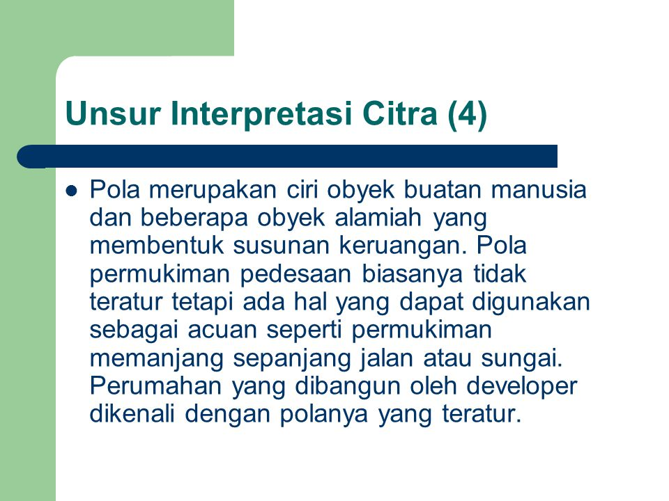 Unsur Interpretasi Citra (4)