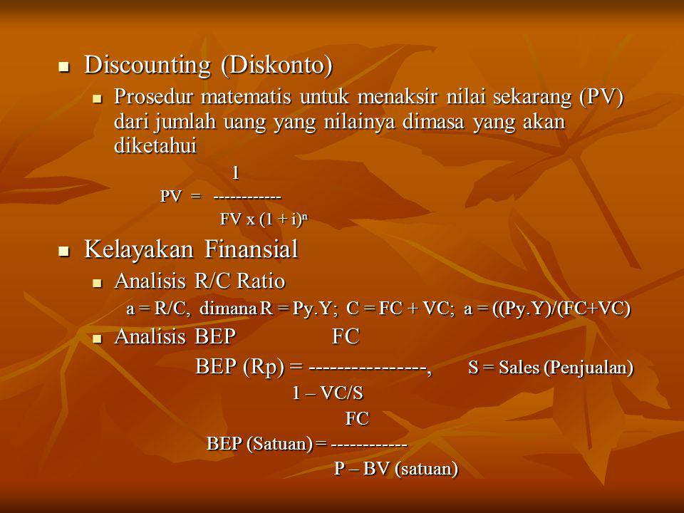 Discounting (Diskonto)