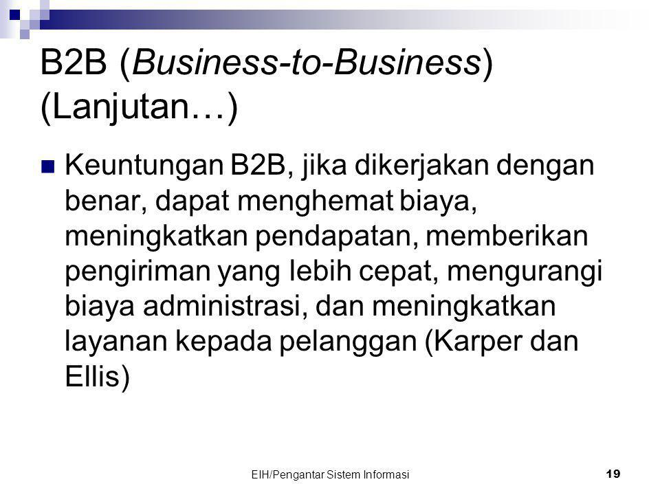 B2B (Business-to-Business) (Lanjutan…)