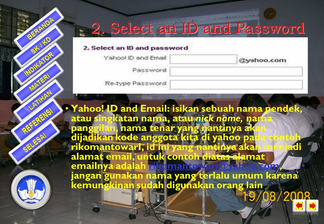 2. Select an ID and Password