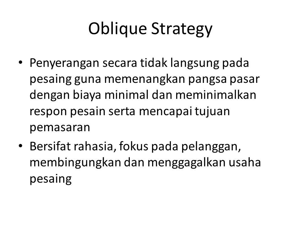 Oblique Strategy