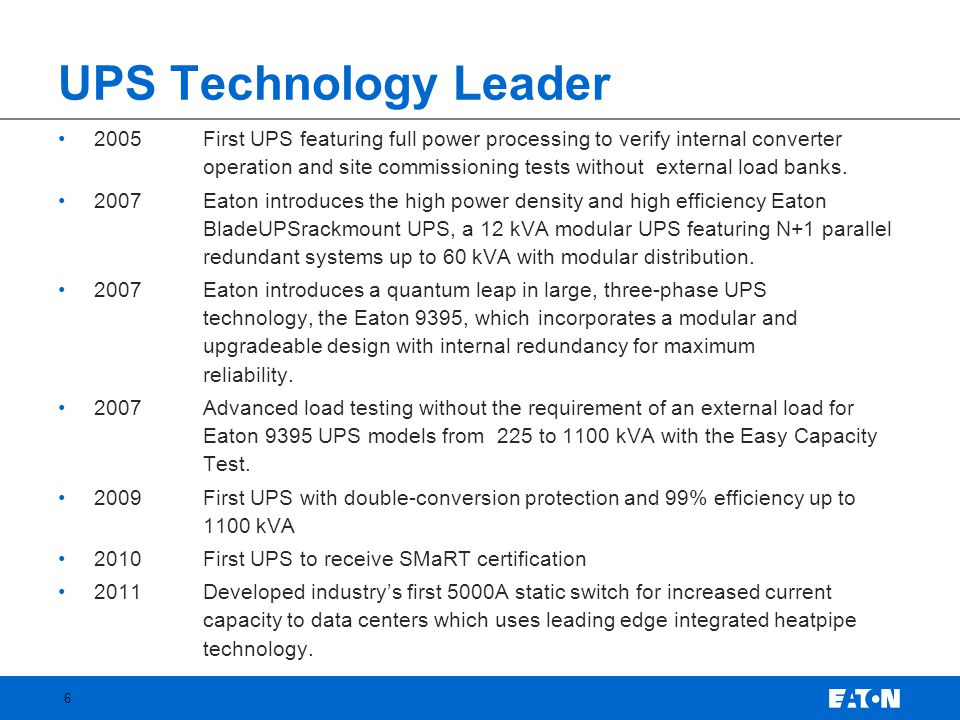 UPS Technology Leader
