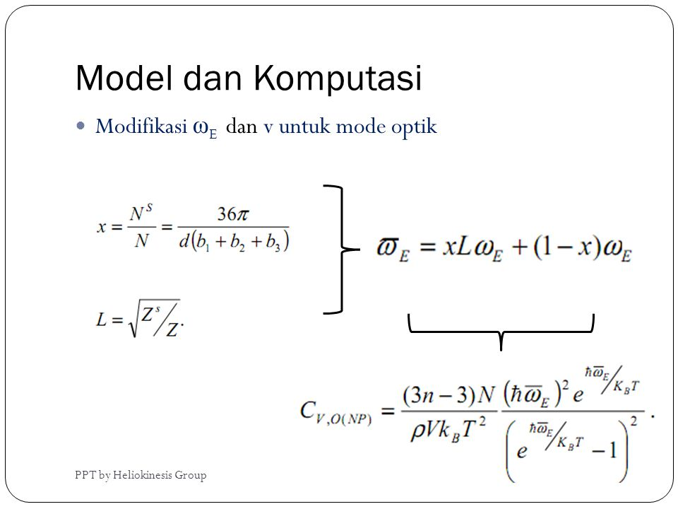Model dan Komputasi Modifikasi ωE dan v untuk mode optik