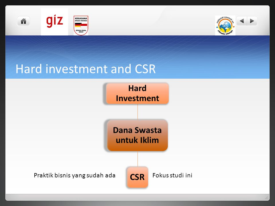 Hard investment and CSR