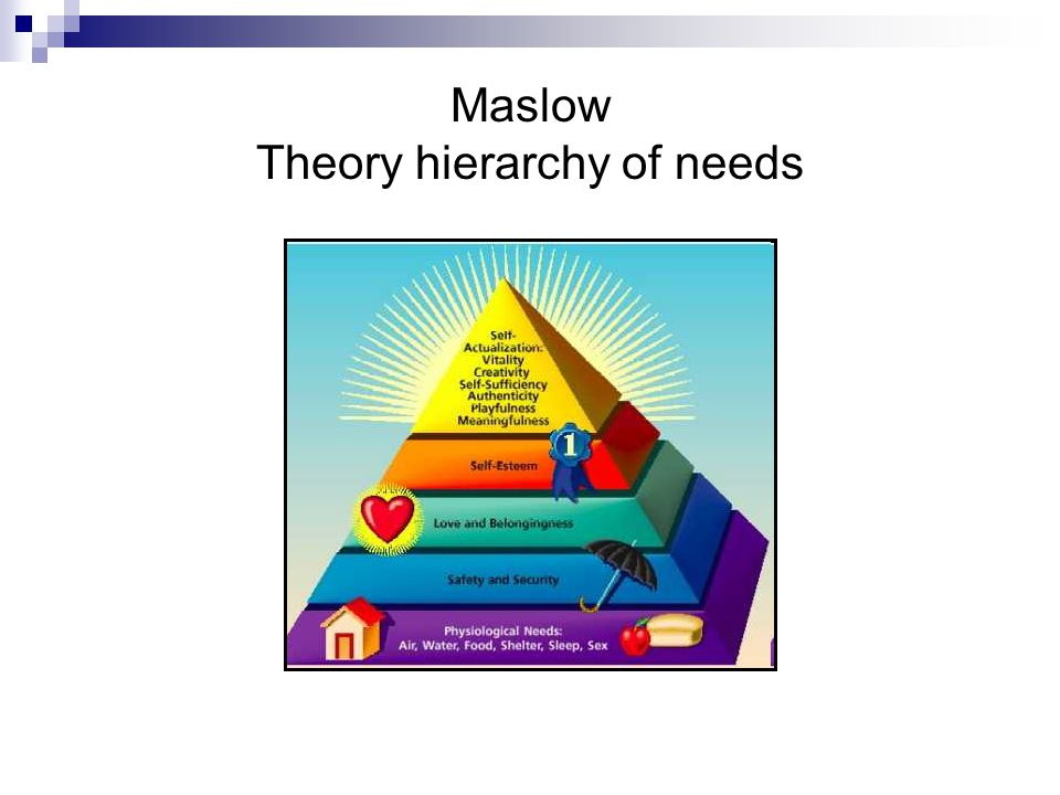 Maslow Theory hierarchy of needs