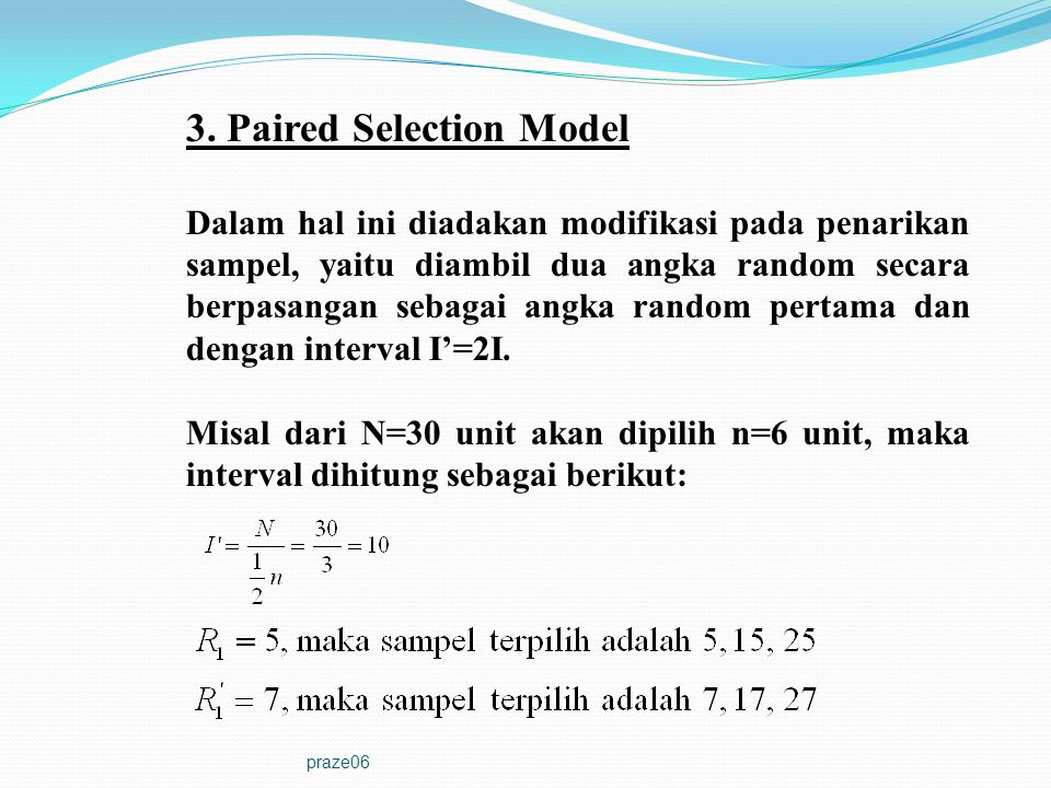 3. Paired Selection Model